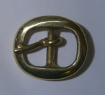 15mm Solid Brass Plain Oval Buckle. Code BUC020